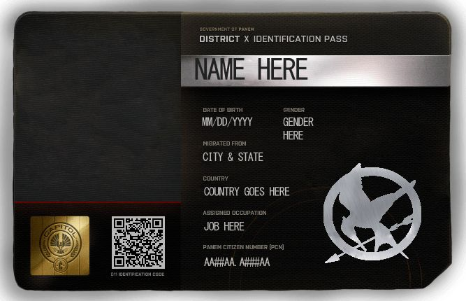 Blank ID Card HungerGames-RolePlay (Photoshop Ver) by Nami ...