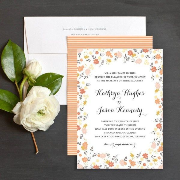 Fearsome Sample Wedding Invitations Wording | THERUNTIME.COM