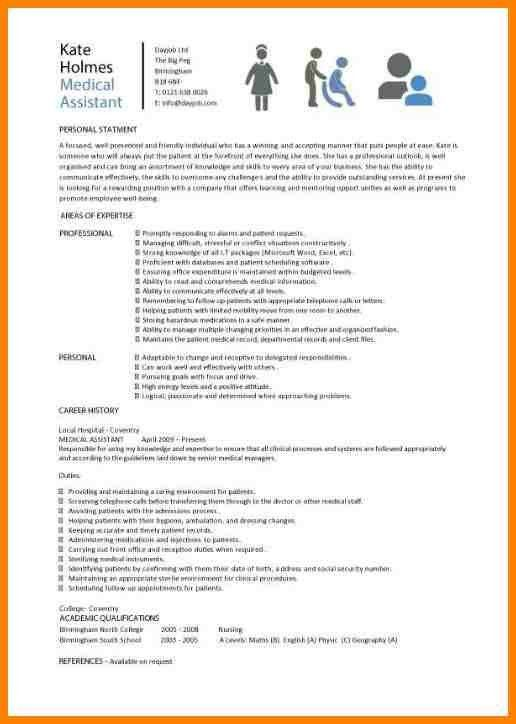 Medical Assistant Resume Ideas. cv examples administration jobs ...