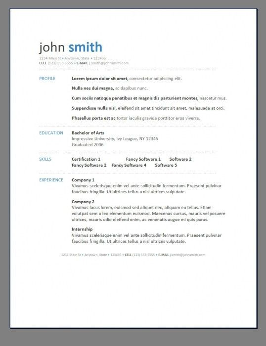 Stylish Contemporary Resume Templates Free | Resume Format Web