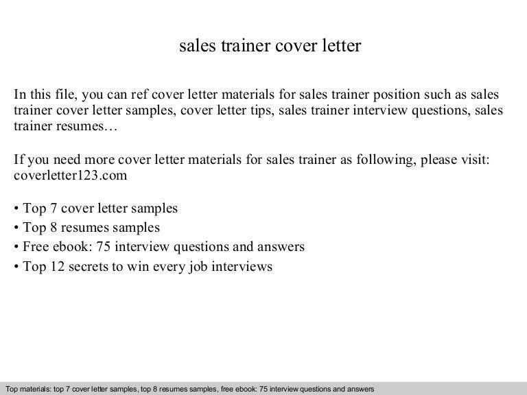 sales trainer resumes