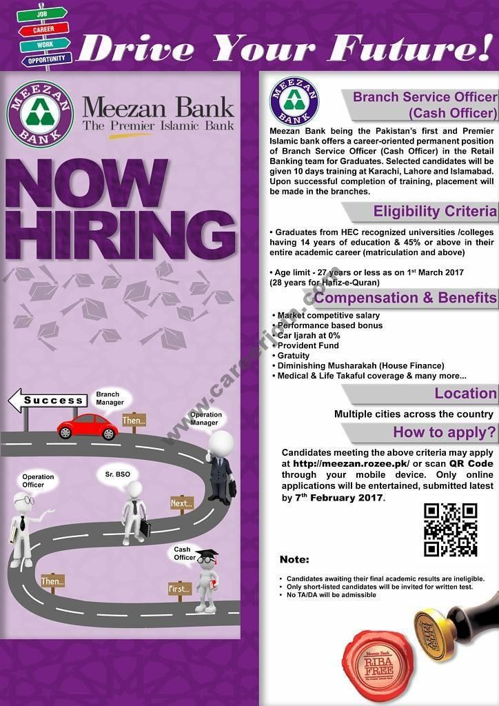 Meezan Bank Jobs BSO Branch Service Officer 2017