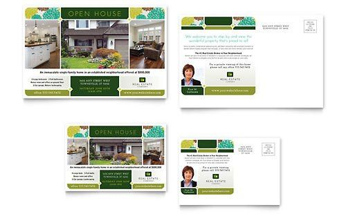 Real Estate - Postcard Templates - Word & Publisher