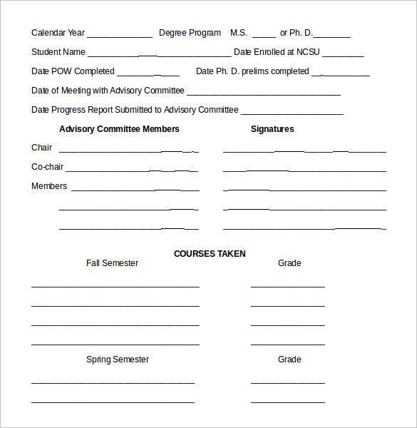 Sample Student Progress Report - 13+ Documents in PDF, Word