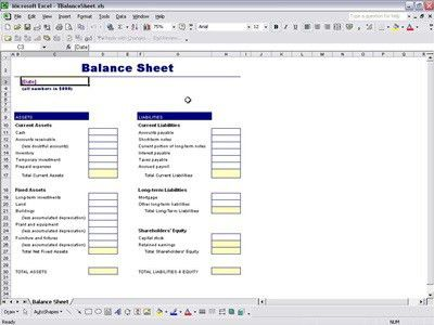 balance sheet reconciliation template