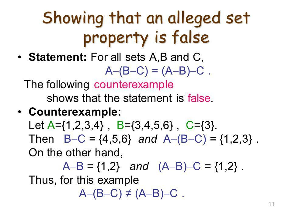 1 Set Theory. Notation S={a, b, c} refers to the set whose ...