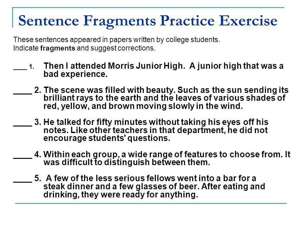 4th grade sentence fragments worksheets - Google Search: | Sixth ...