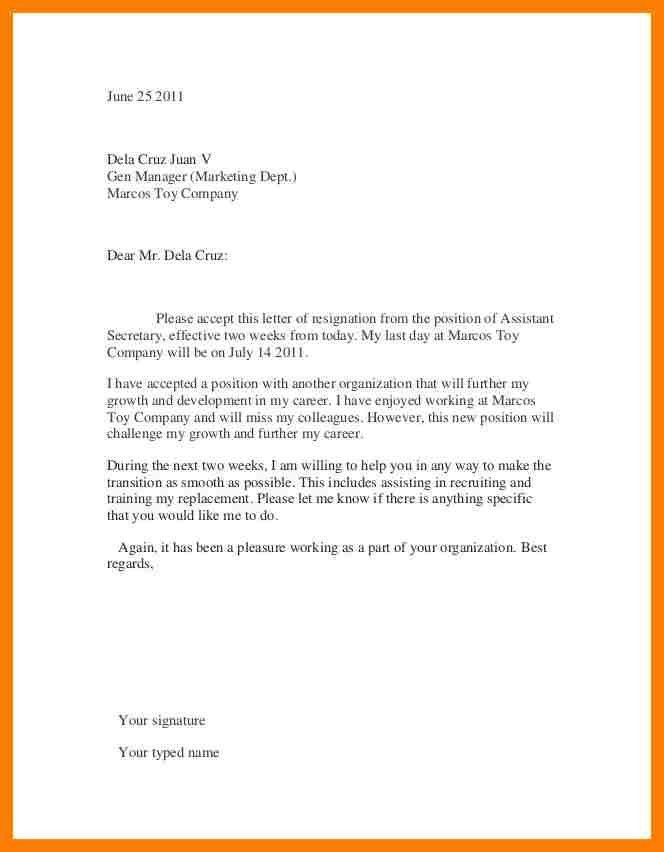 Job Resignation Letter. Resignation Letter Sample For New Job ...