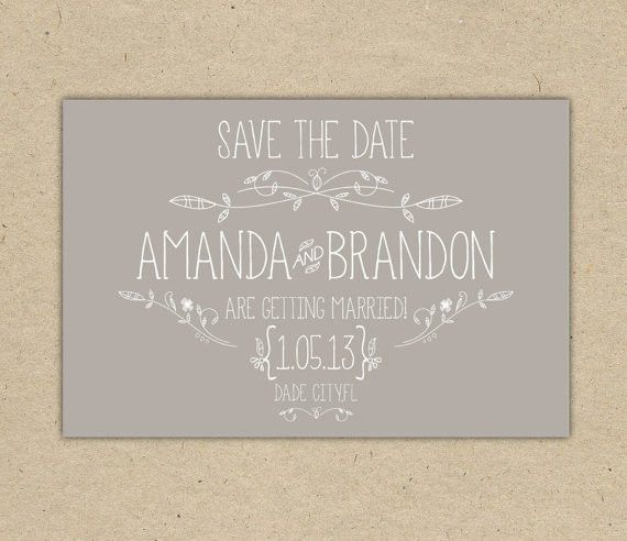 Save The Date . custom. printable template. vintage 2054