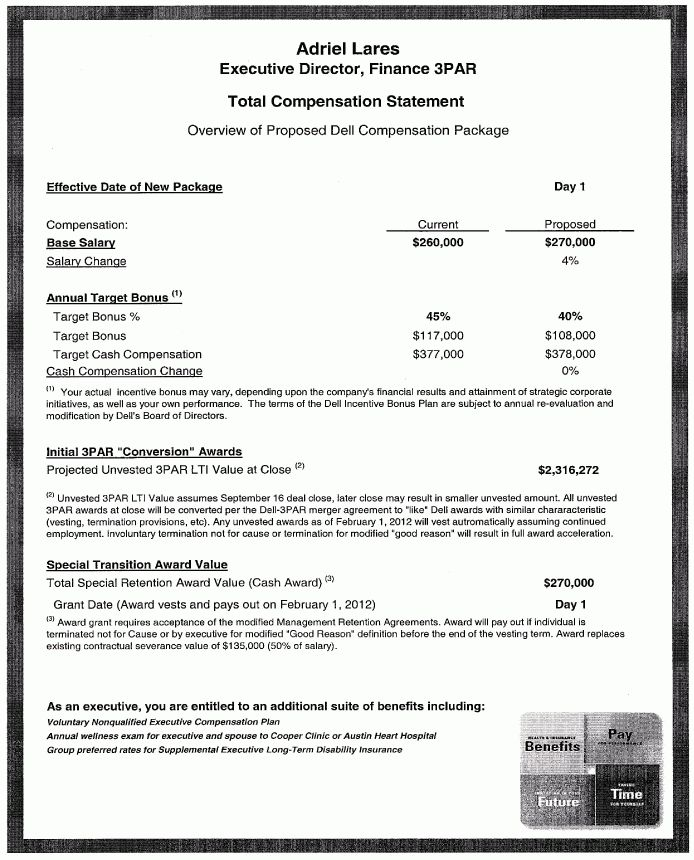 Employment Agreement - Dell Inc. and Adriel Lares - Sample ...