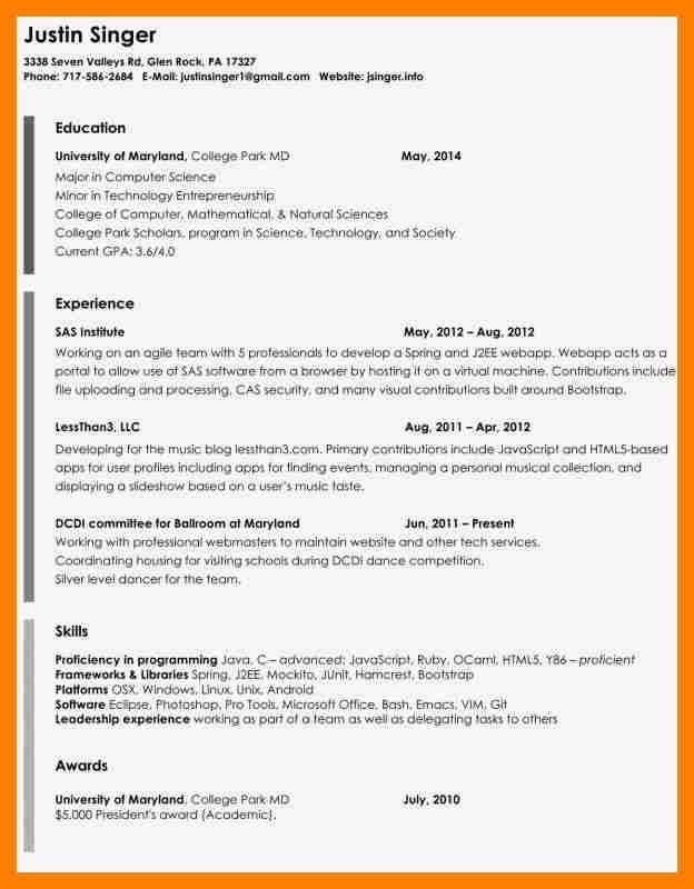 Interesting Opera Singer Resume Template With Free Acting Resume for