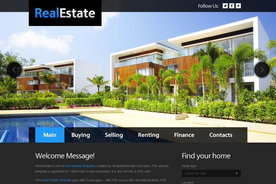 Free Real Estate Website Templates - MonsterPost
