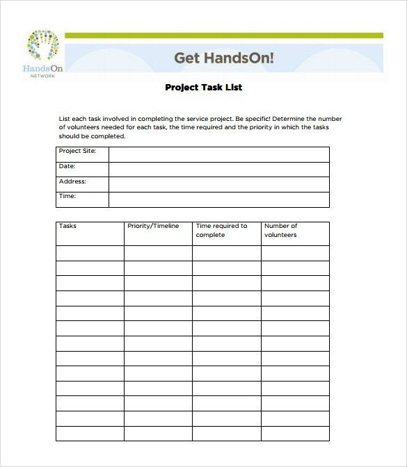 Sample Task List Template   8+ Free Documents Download In PDF, Word