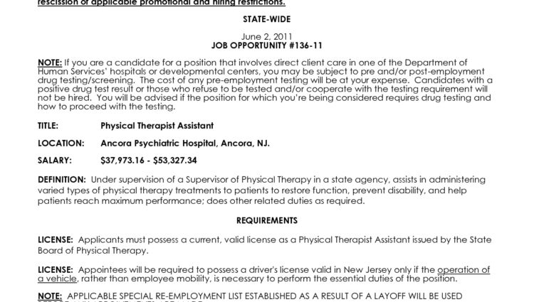 Physical Therapist Assistant Resume Examples Physical Therapist ...