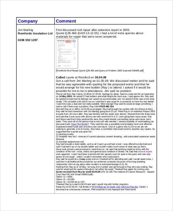 Sample Repair Quote - 6+ Examples in PDF