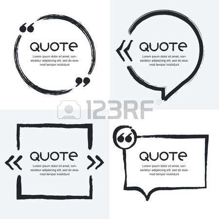 Vector Set Of Quote Forms Template. Black And White Background ...