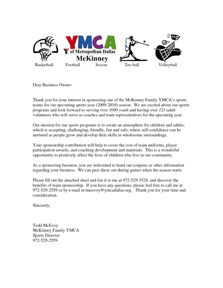 Awesome Sports Sponsorship Letter Gallery - Best Resume Examples ...
