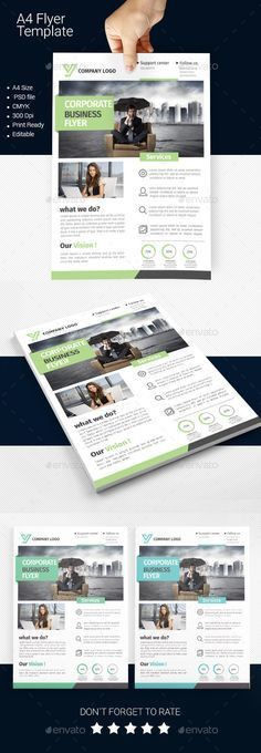 Vuxa - Corporate Flyer | Flyer template, Newspaper and Magazines