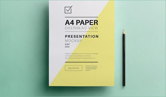 A4 Paper PSD Mockup Template – 37+ Free PSD, Indesign Formats ...