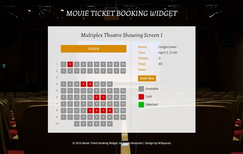 Movie Tickets - w3layouts.com