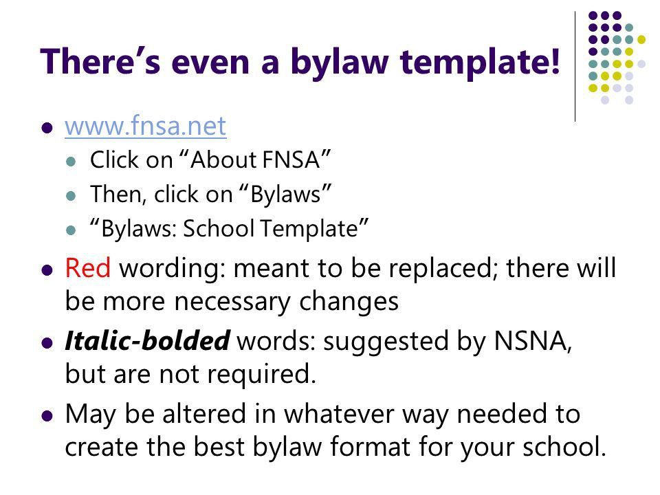 Club Bylaws Template, bylaws template bylaws governing laws ...