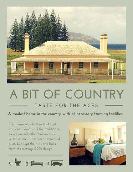 Country House Real Estate Flyer - Templates by Canva