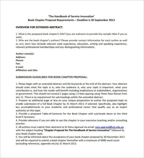 Book Proposal Template – 12+ Free Sample, Example, Format Download ...