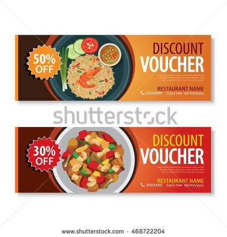 Discount Voucher Template Thai Food Flat Stock Vector 468722204 ...