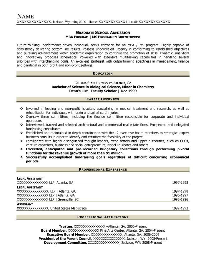 Resume For Graduate School Example. Full Image For Academic Resume ...