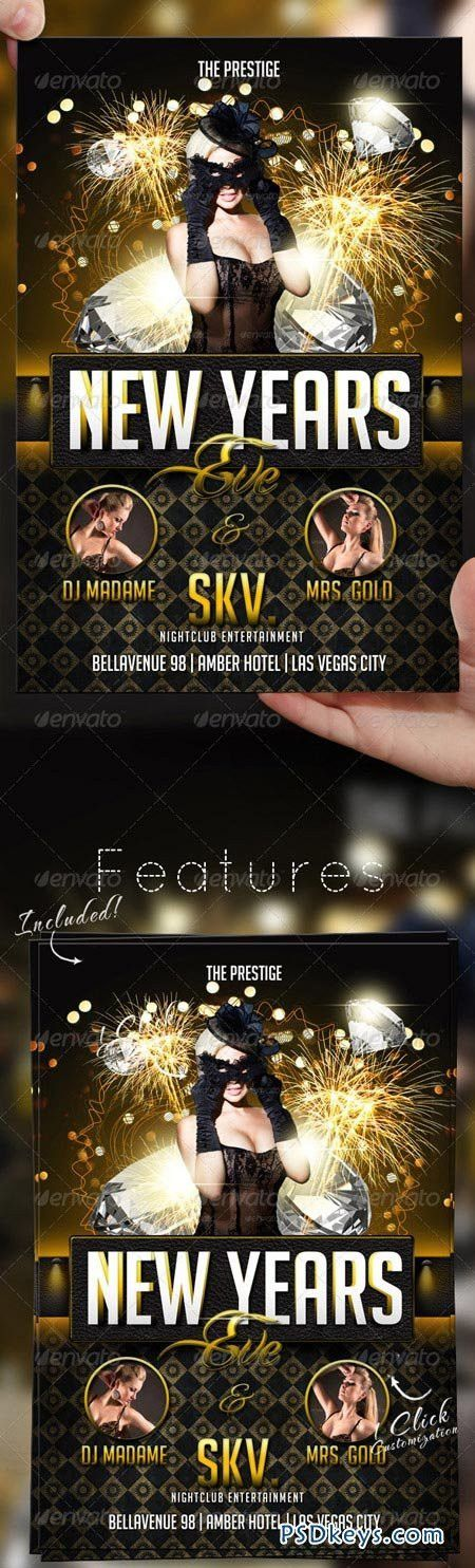 New Years Eve Flyer Template 3481259 » Free Download Photoshop ...