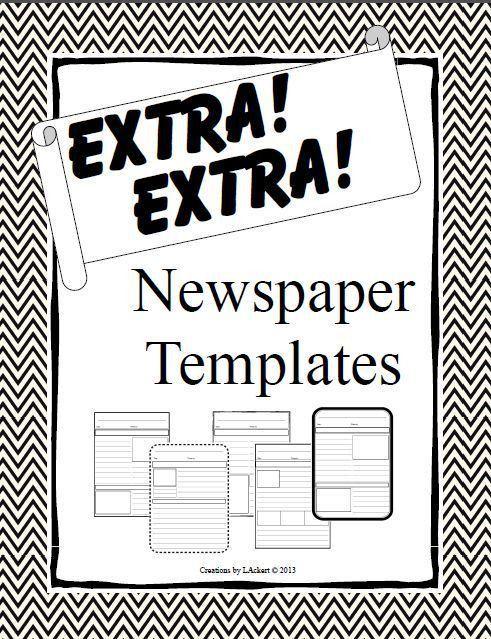 16 best Newspaper template images on Pinterest | Teaching ideas ...