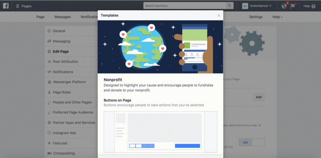 Nonprofit Facebook page templates: What you need to know