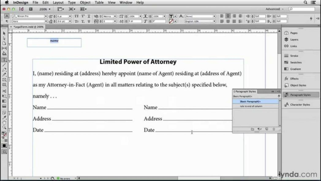 Make A Fill In The Blank Label For Contracts And Forms Indesign ...