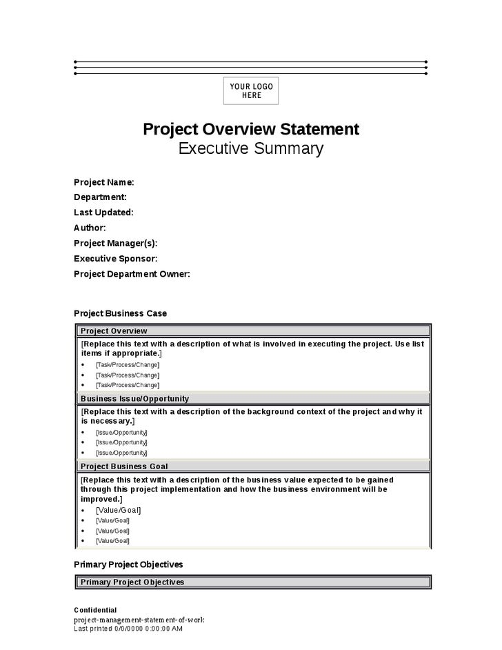 Project Manager Summary Statement | Experience Resumes