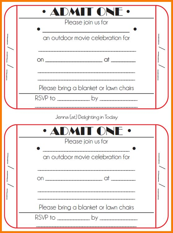 6 free ticket template | Receipt Templates