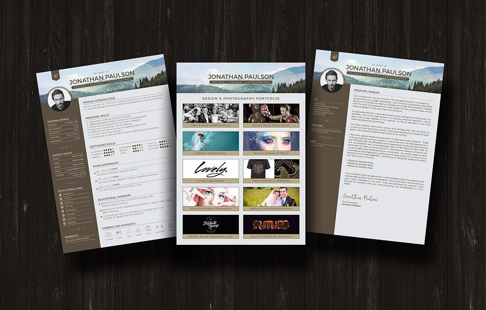 Free Professional Modern Resume (CV), Portfolio Page & Cover ...