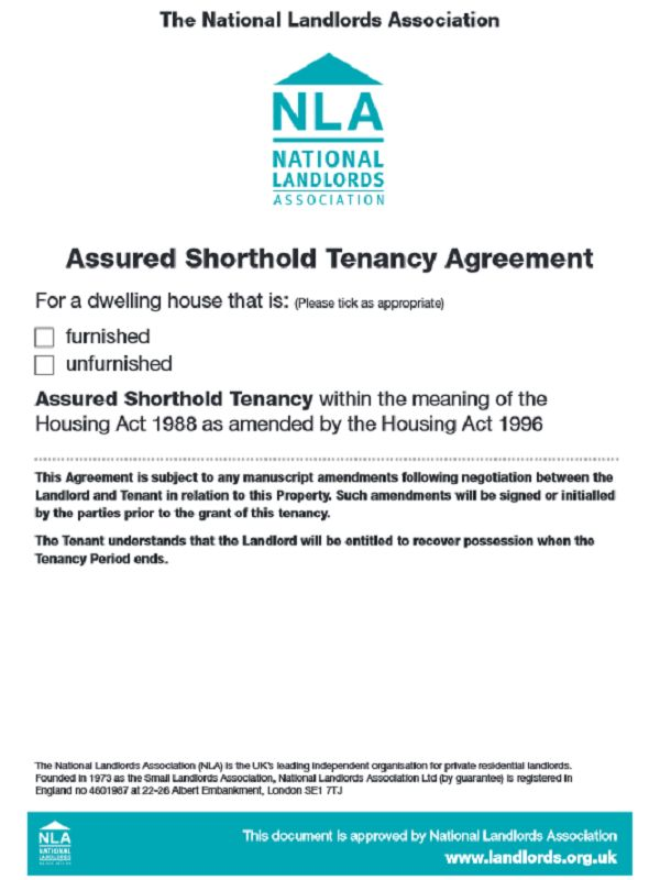 Assured Shorthold Tenancy Agreement Form Free Download - Free Job ...