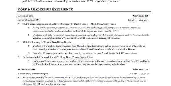 Sample Investment Banking Cover Letter | Resume CV Cover Letter