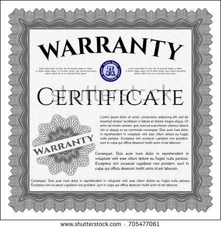 A4 Vintage Art Deco Certificate Templatevector Stock Vector ...