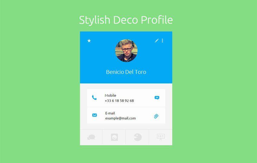 Stylish Deco Profile Widget Responsive Template - w3layouts.com