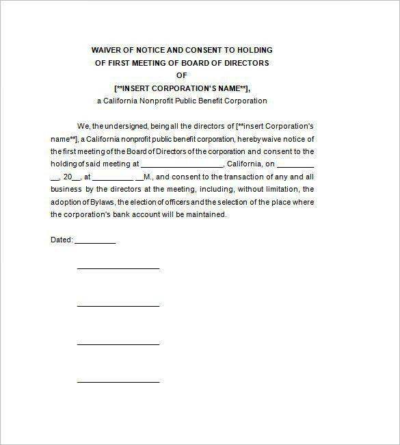 Board of Directors Meeting Minutes Template – 8+ Free Sample ...