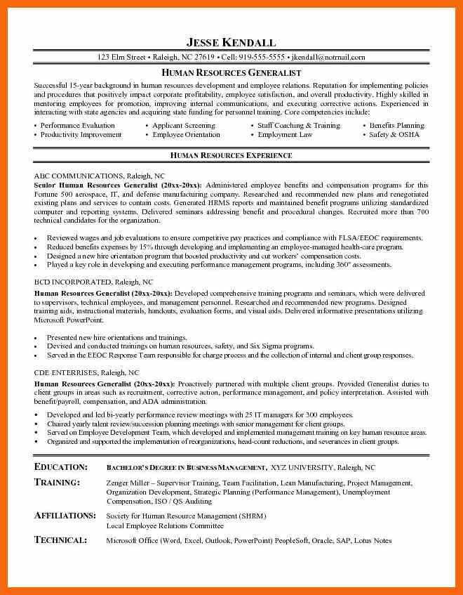 10+ hr generalist resume | credit letter sample