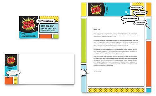 Kids Club Postcard Template Design