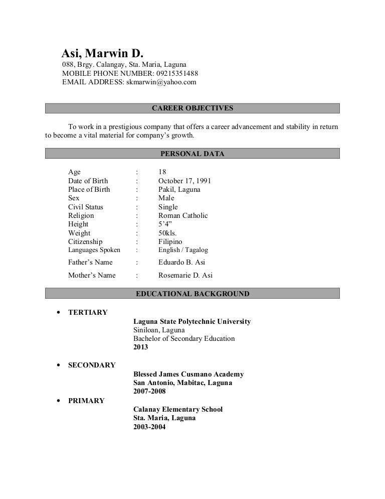 Marwin Resume