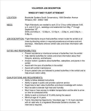 flight attendant job description flight attendant job description