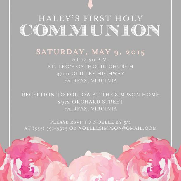 First Communion Invitations | christmanista.com