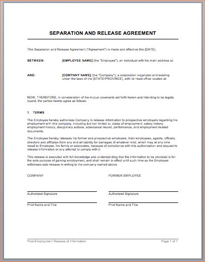 5 separation agreement templateReport Template Document | report ...
