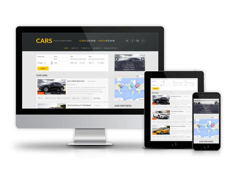 15+ Automotive Website Templates