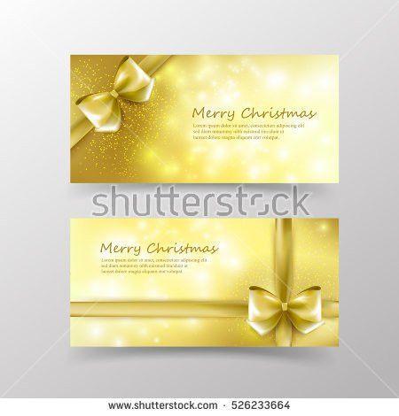 Christmas Card Template Invitation Gift Voucher Stock Vector ...