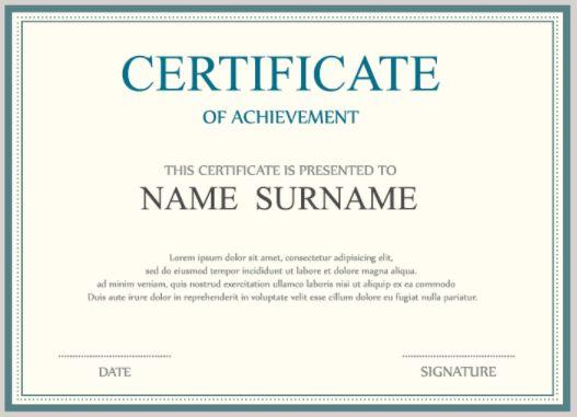 Certificate of Achievement - Webinato